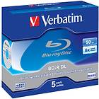 Verbatim BD-R DL 50GB 6x 5-pack Jewelcase