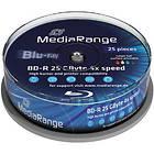 MediaRange BD-R 25GB 4x 25-pack Spindel Inkjet