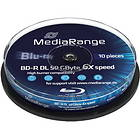 MediaRange BD-R DL 50GB 6x 10-pack Spindel