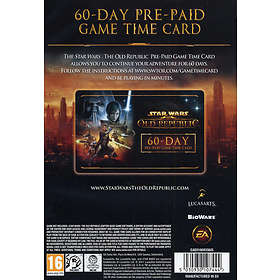 Star Wars: The Old Republic 60 Day Pre-paid Game Time Card