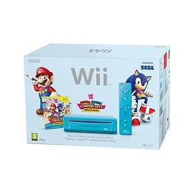 Nintendo Wii (+ Mario & Sonic at the Olympic Games) - Blue Limited Edition