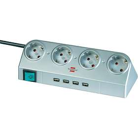 Brennenstuhl Desktop Power 4-Way 4xUSB Switch 1.8m