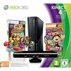 Microsoft Xbox 360 Slim 4Go (+ Kinect + Kinect Adventures + Carnival Games)