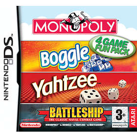 4 Game Fun Pack: Monopoly, Boggle, Yahtzee, Battleship (DS)