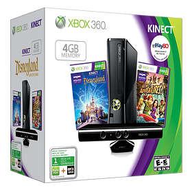 Microsoft Xbox 360 Slim 4Go (+ Kinect + Kinect Adventures + Disneyland)