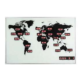 NexTime World Time Digit 55x36cm