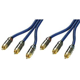 Lindy Premium Gold Component 3RCA - 3RCA 2m
