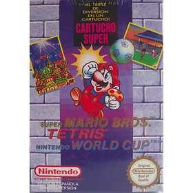 Super Mario Bros. + Tetris + World Cup (NES)