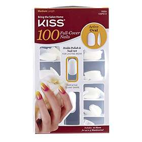 Kiss Nails Active Oval False Nails 100-pack
