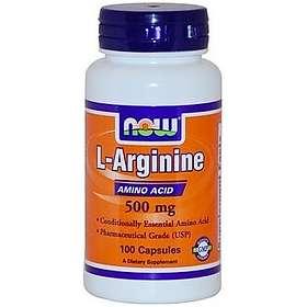 Now Foods L-Arginine 500mg 100 Kapsler