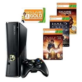 Microsoft Xbox 360 Slim 250Go (+ GoW 2 + Fable III + Halo Reach)