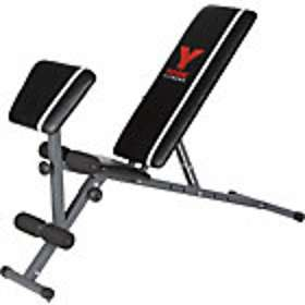 York Fitness Warrior 2-in-1 Dumbbell and Ab Bench with Arm Curl.