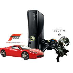 Microsoft Xbox 360 Slim 250GB (incl. Forza 4 + The Elder Scrolls V: Skyrim)