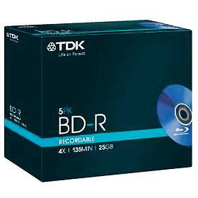 TDK BD-R 25GB 4x 5-pack Jewelcase