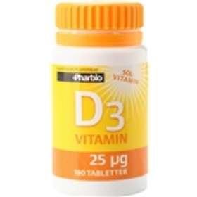 Pharbio D3-vitamin 180 Tabletter