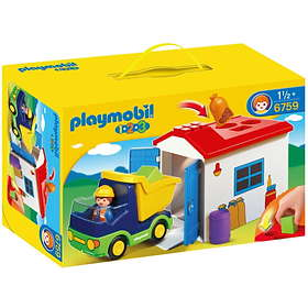 Playmobil 1.2.3 6759 Truck with Garage