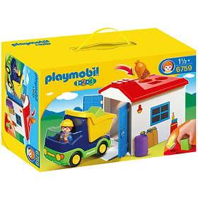 Playmobil 1.2.3 6759 Camion Avec Garage
