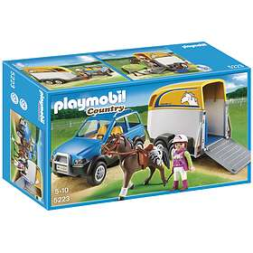 Playmobil Pony Ranch 5223 SUV with Horse Trailer
