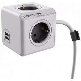 Allocacoc PowerCube Extended 4-Way 2xUSB 1.5m