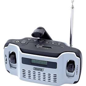 Draper Tools Wind Up Radio with 3 LED Torch