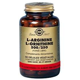 Solgar L-Arginine L-Ornithine 500/250mg 50 Capsules