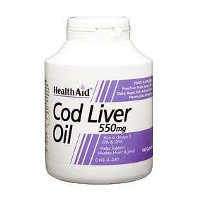 HealthAid Cod Liver Oil 550mg 180 Kapslar