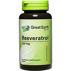 Great Earth Resveratrol 100mg 60 Kapsler