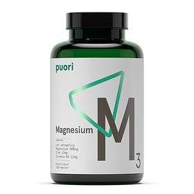 Puori M3 Magnesium & Zinc 120 kapslar