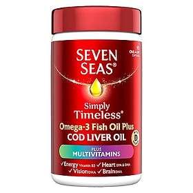 Seven Seas Pure Cod Liver Oil Plus A-Z Multivitamins 90 Capsules