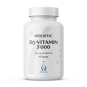 Holistic D3-Vitamin 5000IU 90 Kapslar