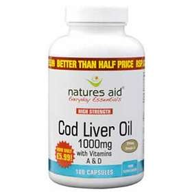 Natures Aid Cod Liver Oil 1000mg 180 Capsules