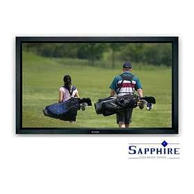 """Sapphire AV Fixed Frame Front Projection Matt White 16:9 121"""" (266x150)"""