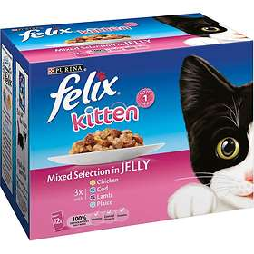 Purina Felix Kitten As Good As It Looks Mixed Selection 12x0.1kg