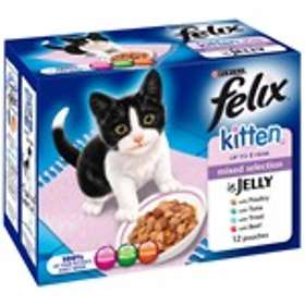 Purina Felix Kitten Chunks in Jelly Mixed Selection 12x0.1kg