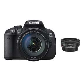 Canon EOS 700D + 40/2,8 + 18-135/3,5-5,6 IS STM