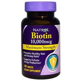 Natrol Biotin Maximum Strength 10000mcg 100 Tablets
