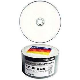 Traxdata CD-R 700MB 52x 50-pack Bulk Fullface Inkjet