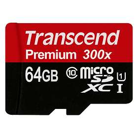 Transcend Premium microSDXC Class 10 UHS-I U1 300x 64GB
