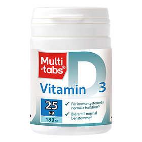 Multi-tabs D-vitamin 25mcg 180 Tabletter
