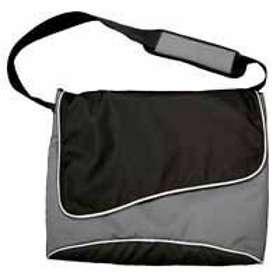 "Monolith Stylish Nylon Laptop Messenger Bag 15.4"""