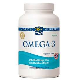 Nordic Naturals Omega-3 Purified Fish Oil 180 Kapslar