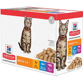 Hills Feline Science Plan Pouch Optimal Care Adult Poultry Selection 1
