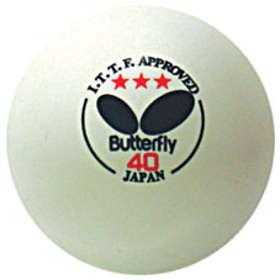 Butterfly 40mm 3-Star Ball white/orange (3 balls)