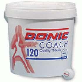 Donic Coach Ball White/Yellow (120 bollar)