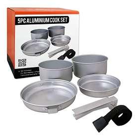 Milestone Camping 5 Piece Aluminium Cook Set