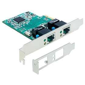 DeLock PCI Express Card to 2x Gigabit LAN (89358)