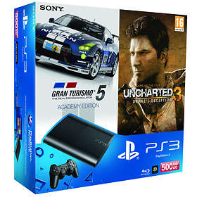 Sony PlayStation 3 Slim 500Go (+ Uncharted 3 GOTY + Gran Turismo 5 Academy)