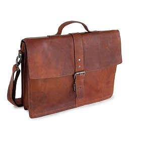 "BaooBaoo Smoky Leather Briefcase 15"""