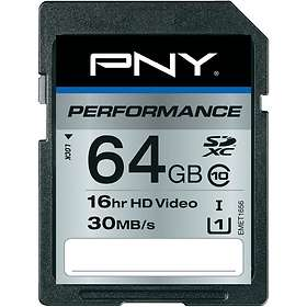 PNY Performance SDXC Class 10 UHS-I U1 64GB
