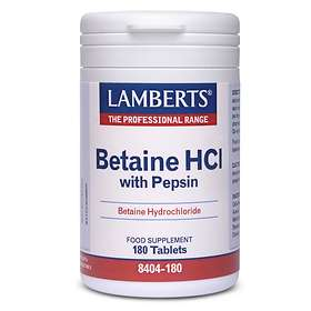 Lamberts Betaine HCl 324mg Pepsin 5mg 180 Tabletter